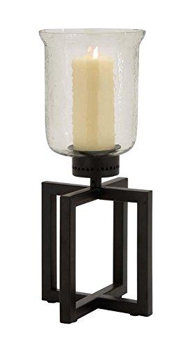 Deco 79 Metal Glass Hurricane, 7 by - Hurricane Acrylic Glass
