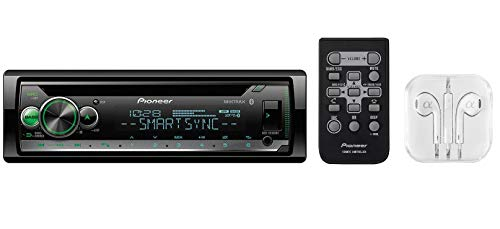 Pioneer in-Dash Built-in Bluetooth CD, MP3, Front USB, Auxiliary, Pandora, AM/FM, Built in iPod, iPhone and iPad Controls, ARC Phone app, Dual Phone Connection Stereo Receiver/Free ALPHASONIK ()