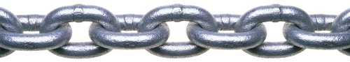 (Campbell 0143436 System 3 Grade 30 Low Carbon Steel Proof Coil Chain in Square Pail, Hot Galvanized, 1/4