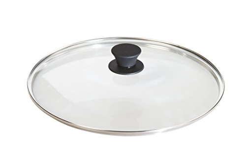 Lodge Tempered Glass Lid (12 Inch) - Fits Lodge 12 Inch Cast Iron Skillets and 7 Quart Dutch Ovens