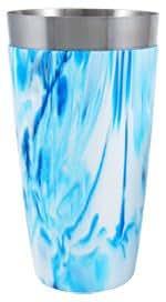 Cocktail Shaker VinylworksTM 28 oz. Florescent Blue/White by Barproducts.com, Inc.