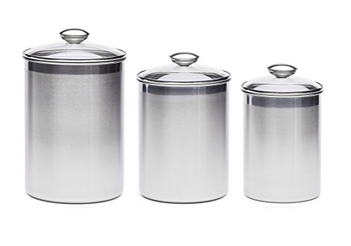 Steel Xl Canister Set Stainless Steel Set Of 3 Canisters