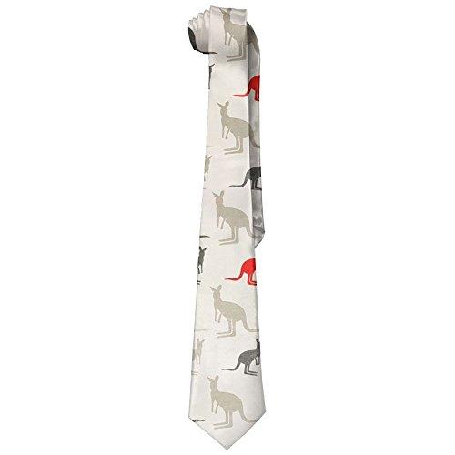 Kangaroo Tie - Australia Kangaroos Neckties Fashion Silk Tie Sets For Men Teen boys
