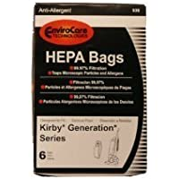 18 KIRBY HEPA BAGS FOR GENERATION SERIES VACUUM+2BELTS