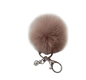 Kaninchen-Pelz-Ball Keychain Bag Plüsch...