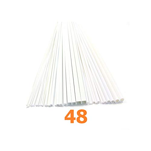Rod Joiner - 48 Styrene ABS Round & Square Rod Pipes Tubes ABSO0 Train Track Railroad Accessories Kit Quick Arrive
