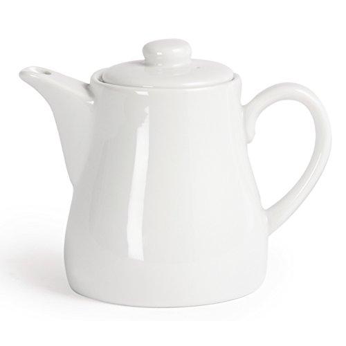 Pure White by Utopia Crockery 15oz White Porcelain Teapot 4x Teapot