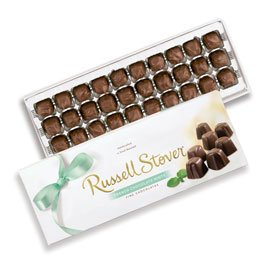 Russell Stover French Chocolate Mints Box, 10 Ounce