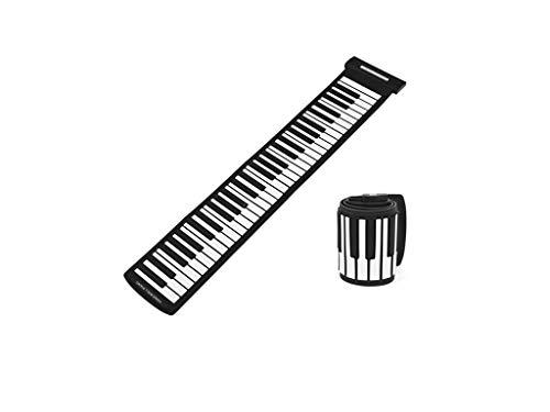 Diyeeni USB MIDI Roll-Up Piano,Portable 61 Keys Professional MIDI Keyboard Fashionable Electronic Keyboard Hand Roll Piano,Real Touch,Drive Free, Supporting hot-plugging