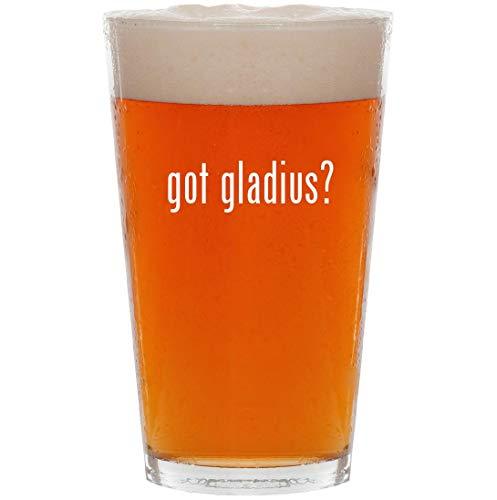 Tactical Flashlight Night Gladius Ops - got gladius? - 16oz Pint Beer Glass