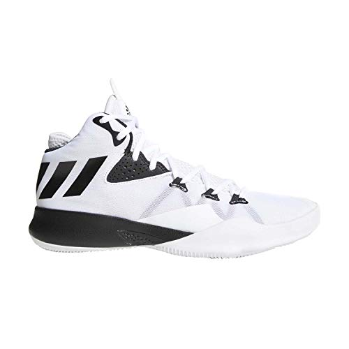 0590ab674a5dc0 adidas Dual Threat 2017 Shoe Men s Basketball 9.5 White-Core Black