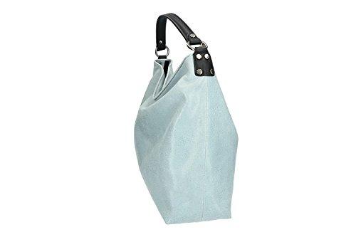 Pierre Cardin Kussen : Tasche damen schulter pierre cardin blau in leder made in italy