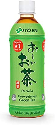 Ito En Tea Oi Ocha Green Tea, Unsweetened, 16.9 Ounce (Pack of 12)