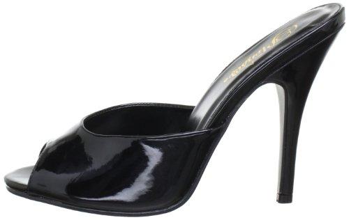 blk Eu Mujer Pleaser Sandalias seduce De Schwarz 101 Material Negro Pat Sintético UqngvwCn