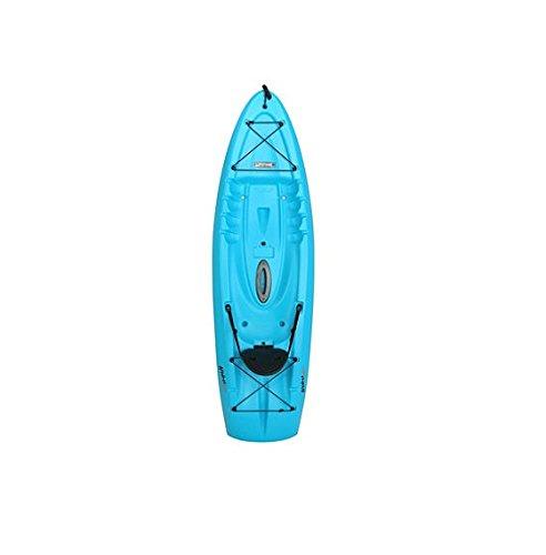 Recreational-Kayak-Sit-On-Top-Kayaks-For-Kids-Fishing-Glacier-Blue-8-Foot-Flatbottom-Backrest-1-Person