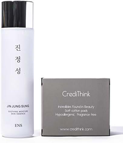 Jin Jung Sung Soothing Moisture Essence Serum 5.07 fl.oz.   Light, Natural, Moisturizing Korean-Made Facial Essence Serum for All Skin Types   Made With Niacinamide, Beta-Glucan, Hyaluronate, Ceramide