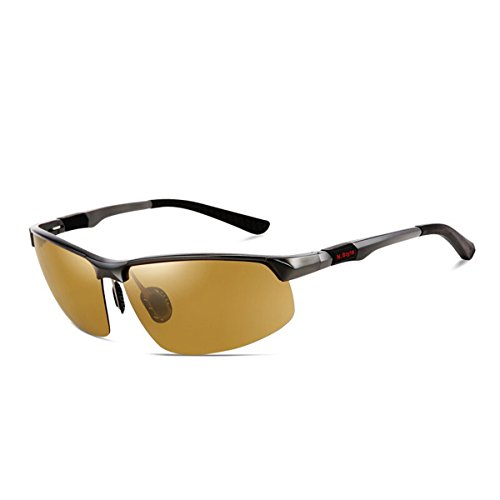 Gafas Noche Gafas Sol los polarizado de visión Fotosensibles Sol Hombres Gafas Nocturna de KOMNY día de y de Plata de de Conductor de Gafas de la Tea Chameleon Gafas de decoloración Color Marco la conducción de wvHqqnWU