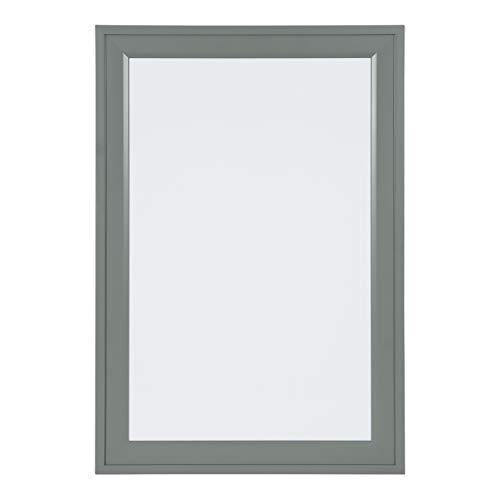 (DesignOvation Bosc Decorative Framed Magnetic Dry Erase Board, Gray, 18.5x27.5)
