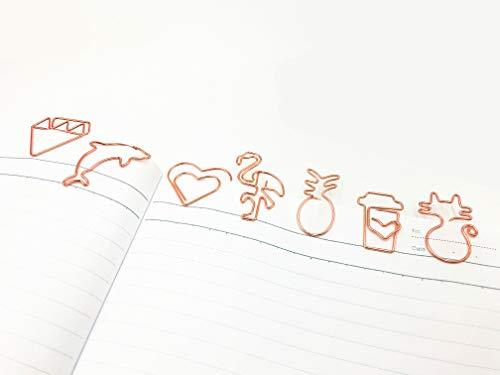 40Pcs Paper Clips, Cute Bookmark Marking Love Diamond Crown Envelope...