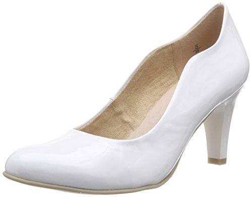 Femme 22406 Patent Caprice Blanc White 123 Escarpins nPqUwxUC