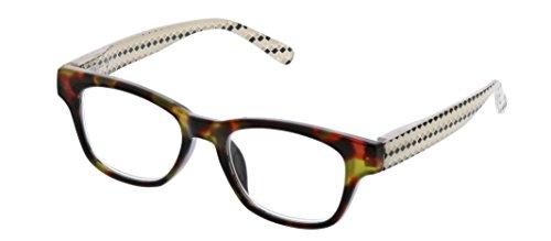 Peepers Women's Deco for Days - Tortoise/Multi 2406250 Square Reading Glasses, Tortoise&Multi, -