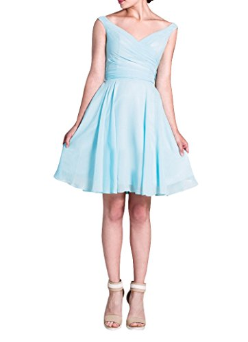 LOVEBEAUTY Women's Short Chiffon V-Neck Summer Dress Party Dress