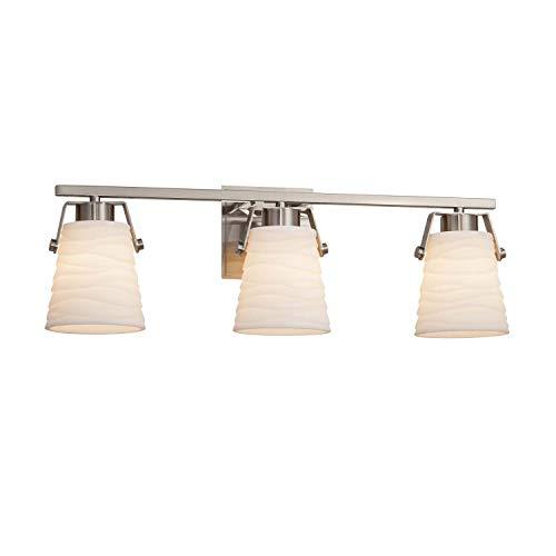 Justice Design Group Lighting PNA-8483-WAVE-NCKL Nexus Bath Bar 8