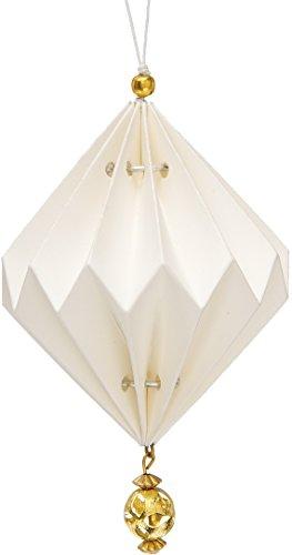 Luna Bazaar Vanja Design Tasseled Origami Ornament (4-Inch,...