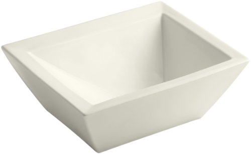 Bateau Vessels (KOHLER K-2273-96 Bateau Vessels Above-Counter Bathroom Sink, Biscuit)
