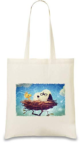 Animation Custom Drôle Bag Peanuts Nid Naturel Every Day usable friendly 100 Re Funny Cotton Handbag Natural Printed Use Eco amp; Nest Stylish Color Cacahuètes Soft For Unique Tote rYq5xr