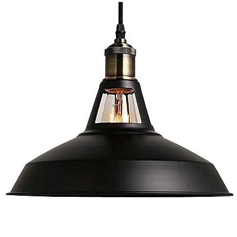 Lámpara Cocina Vintage Negro Maxmer Industrial Retro Luz Comedor E27Color Colgante Lámpara para de Bar Techo PX8n0ONwk
