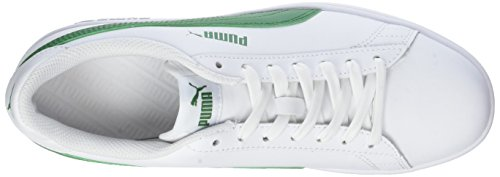 L White Basses Blanc Mixte Smash V2 Puma Baskets Adulte Green amazon puma 03 wxEzayq
