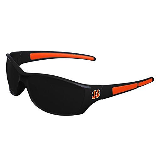 FOCO NFL Cincinnati Bengals Athletic Wrap Sunglassesteam Logo Athletic Wrap Sport Sunglasses, Team Color, One Size