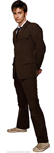 DOCTOR WHO Official Star Cutouts Cut Out of The Tenth David Tennant Suit (Brown) lifesize cardboard cut out Star Cutouts Ltd SC125
