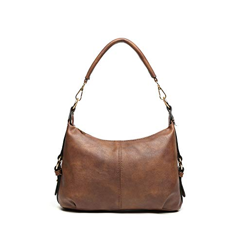 Synthetic Leather Travelling Case - Shoulder Purse for Women PU Leather Small Hobo Handbag Top Handle Bag Crossbody Brown + Katloo Nail Clipper