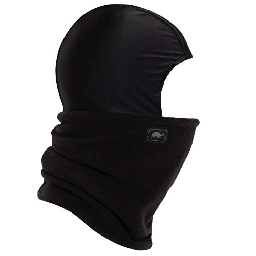 Turtle Fur Chelonia 150 Fleece Shellaclava Balaclava with Attached Neck Warmer, Black (Turtle Fur Frost Mask)