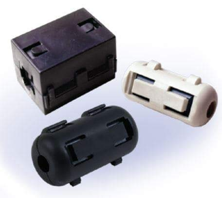 Ferrite Clamp On Cores 220ohms 300MHz 10mm Inside Dia, Pack of 10 (HFA187102-0A2)