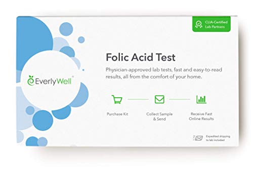 EverlyWell- Folic Acid Test - Test Your Levels of B9, Which Help Create Your DNA + Carry Oxygen Through Your Body! (Not Available in MD, NY, NJ, RI)
