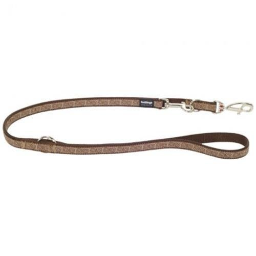 Red Dingo Hypno Brown multi-purpose dog leash 6,5ft Large