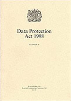 Book Data Protection ACT 1998 (Public General Acts - Elizabeth II)