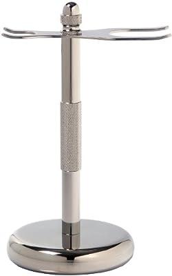 Escali Deluxe Chrome Razor and Brush Stand