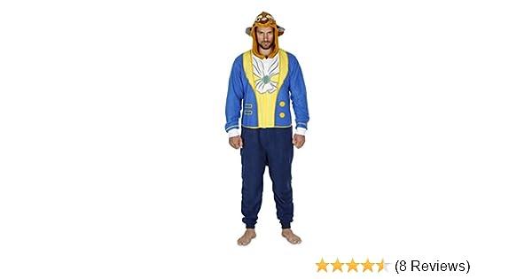 d9a723d916a6c Amazon.com: Disney Mickey, Goofy, Beast Men Hooded Union Suit Pajama ...