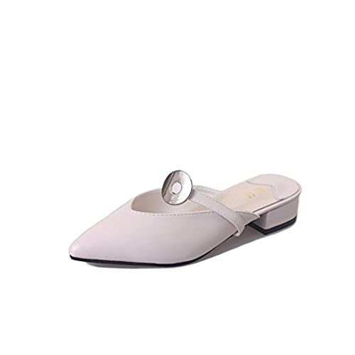 new Women Leatherette Horsebit Faux Pearl Loafer Mule - HF83 by Wild Diva Collection