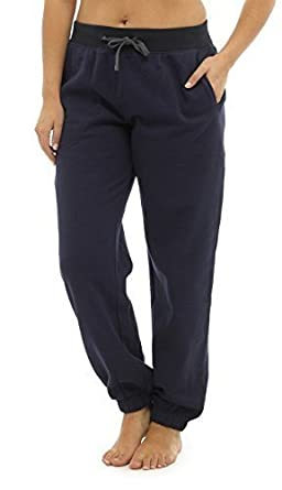 Hari Deals Ladies Jog Pants Gym Tracksuit Trousers with Ribbed Cuff