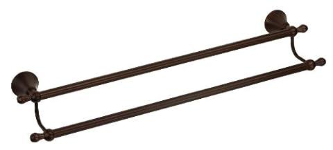 Danze D441602BR Bannockburn Double Towel Bar, 24-Inch, Tumbled Bronze - Traditional Double Towel