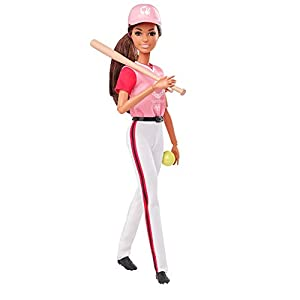 Barbie Olympic Games Tokyo 2020 Softball Doll with Softball Uniform, Tokyo 2020 Jacket, Medal, Softball, Bat and Glove for Ages 3 and Up