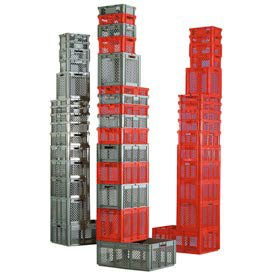 SSI Schaefer Euro-Fix Mesh Container, Model No. EF6423, 24