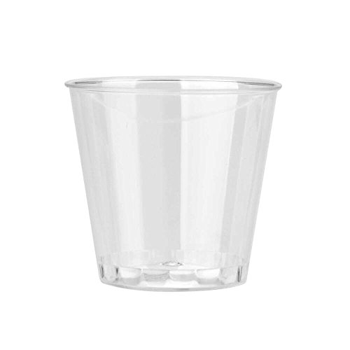 TADAMI Jelly Cups, Clear Plastic Disposable Party Shot Glasses Jelly Cups Tumblers Birthday (20PC)