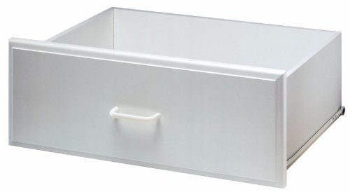 Deluxe Wood Closet System (Easy Track RD2508 Deluxe Drawer, White - 8
