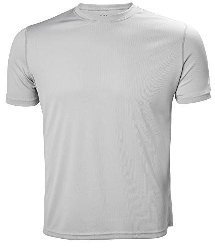 Helly Hansen Men's HH Moisture Wicking Tech T-Shirt, Light Grey, X-Large
